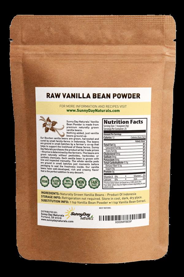 ground vanilla bean