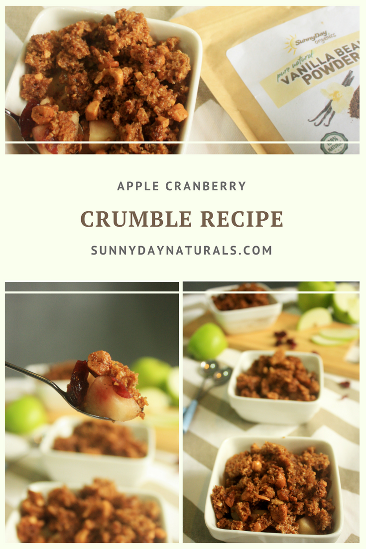 Healthy Apple Cranberry Crumble Recipe - Sunny Day Naturals