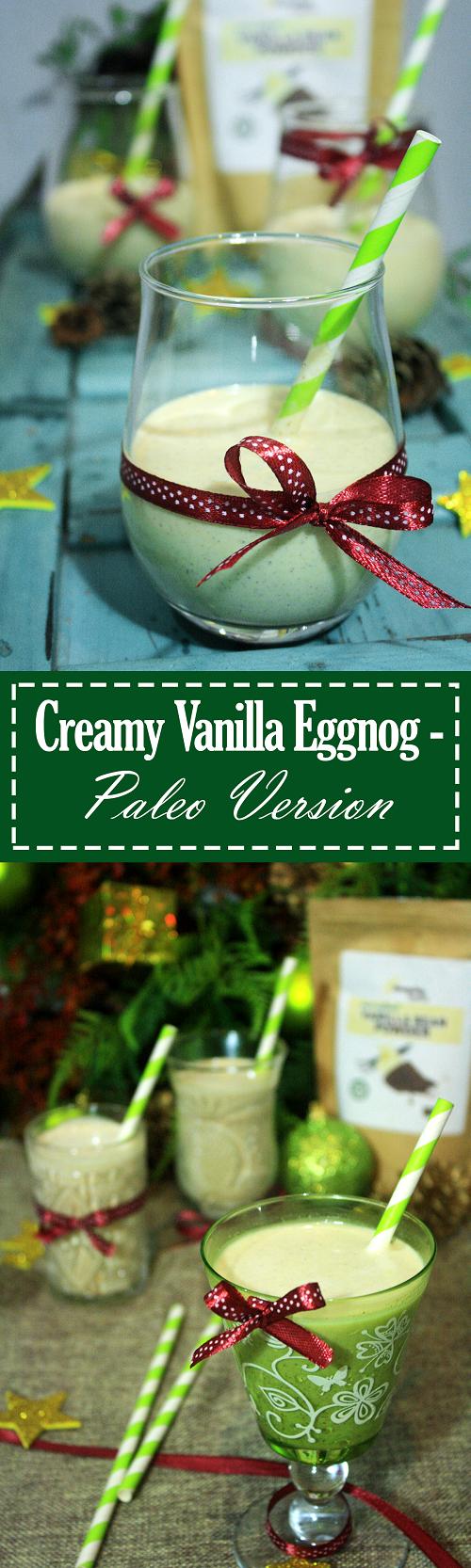 Creamy Paleo Vanilla Eggnog Recipe - Summer Day Naturals