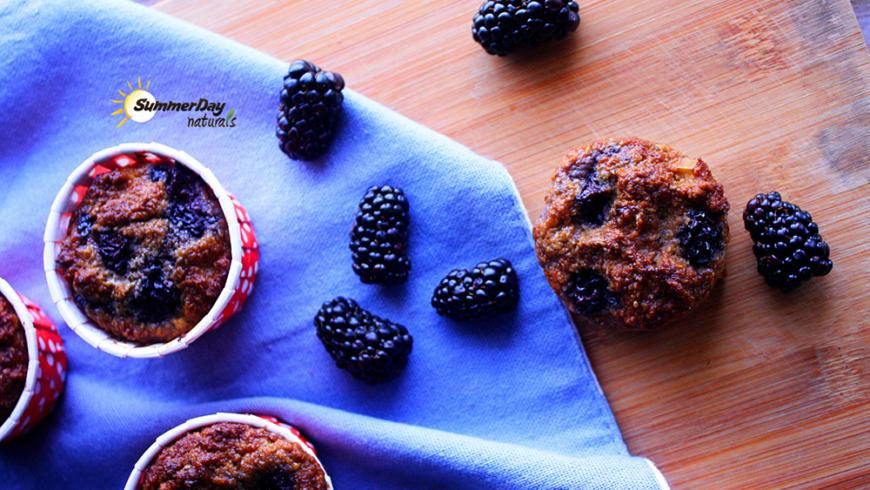 Apple & Blackberry Muffins