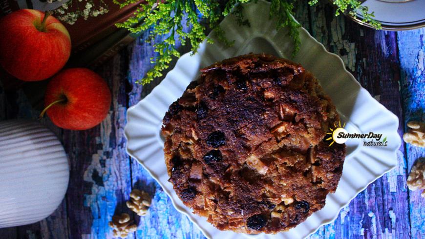 Apple, Raisin and Walnut Cider Cake