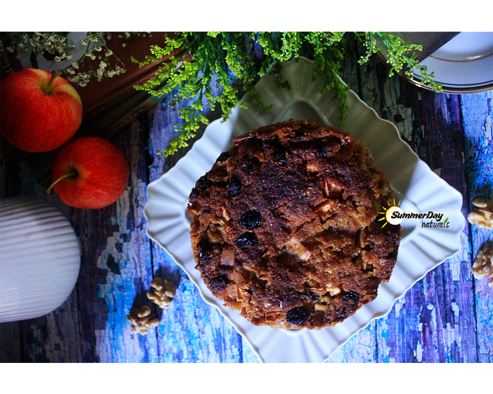 Apple, Raisin and Walnut Cider Cake