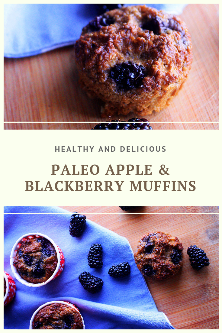 Paleo Apple & Blackberry Muffin Recipe by Summer Day Naturals