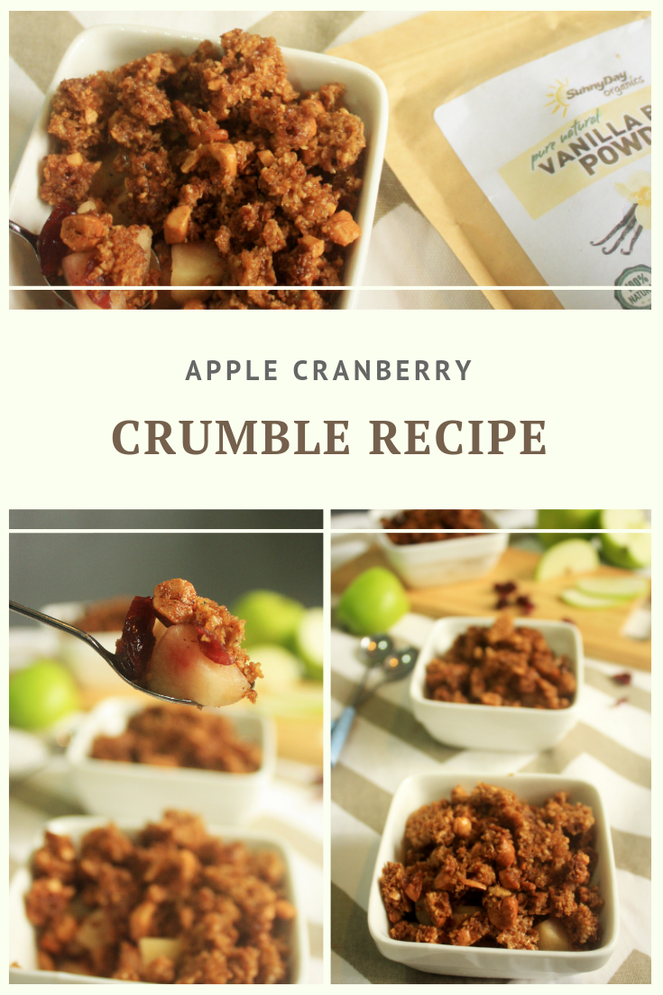 Paleo Apple Cranberry Crumble Recipe by Summer Day Naturals