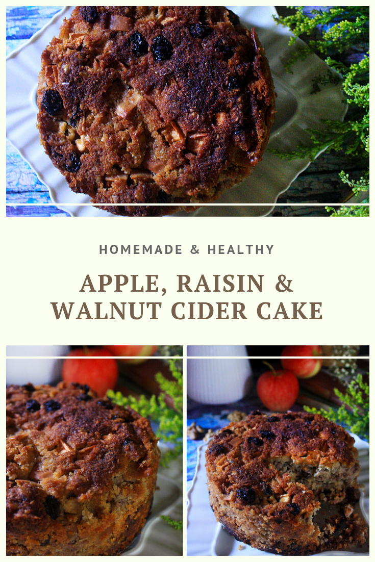 Paleo Apple, Raisin and Walnut Cider Cake Recipe by Summer Day Naturals