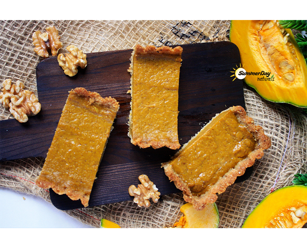 Cinnamon Pumpkin Pie with Walnut Crust