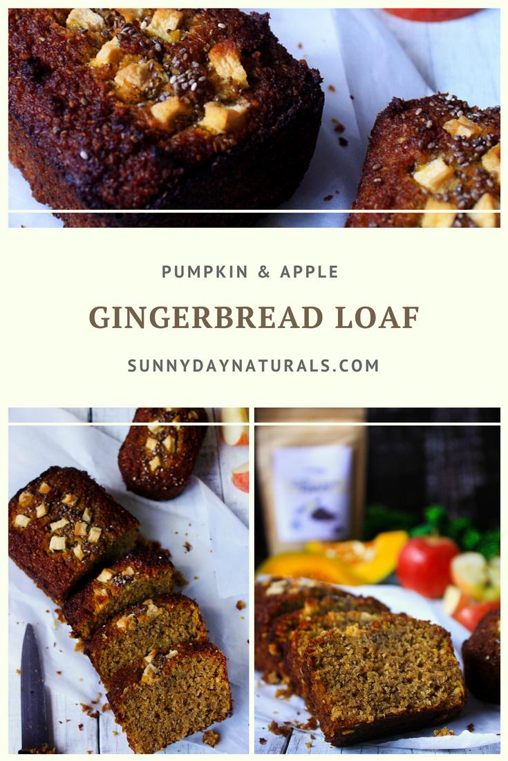 Pumpkin & Apple Gingerbread Loaf - Sunny Day Naturals