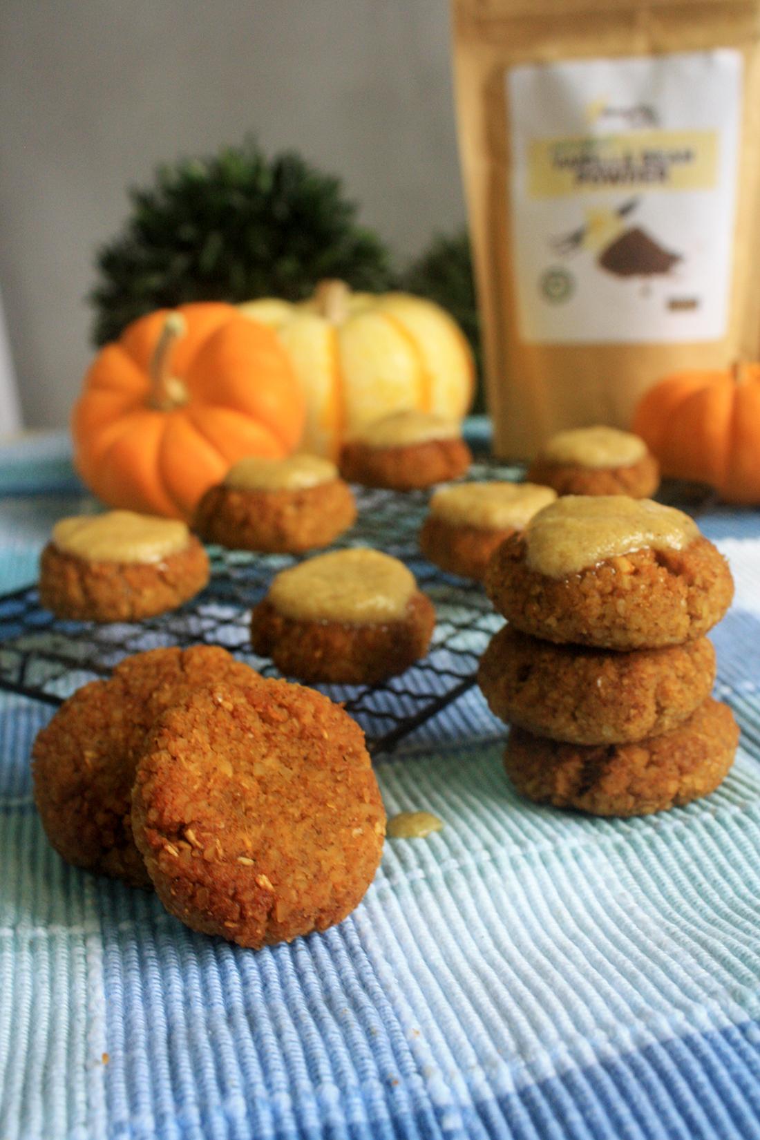 Pumpkin Spice Cookies with Vanilla Cinnamon Icing recipe