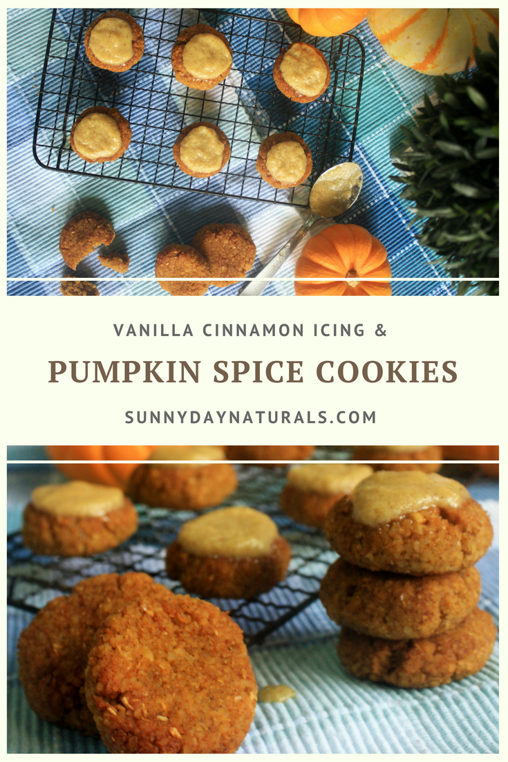 Pumpkin Spice Cookies with Vanilla Cinnamon Icing Recipe - Sunny Day Naturals