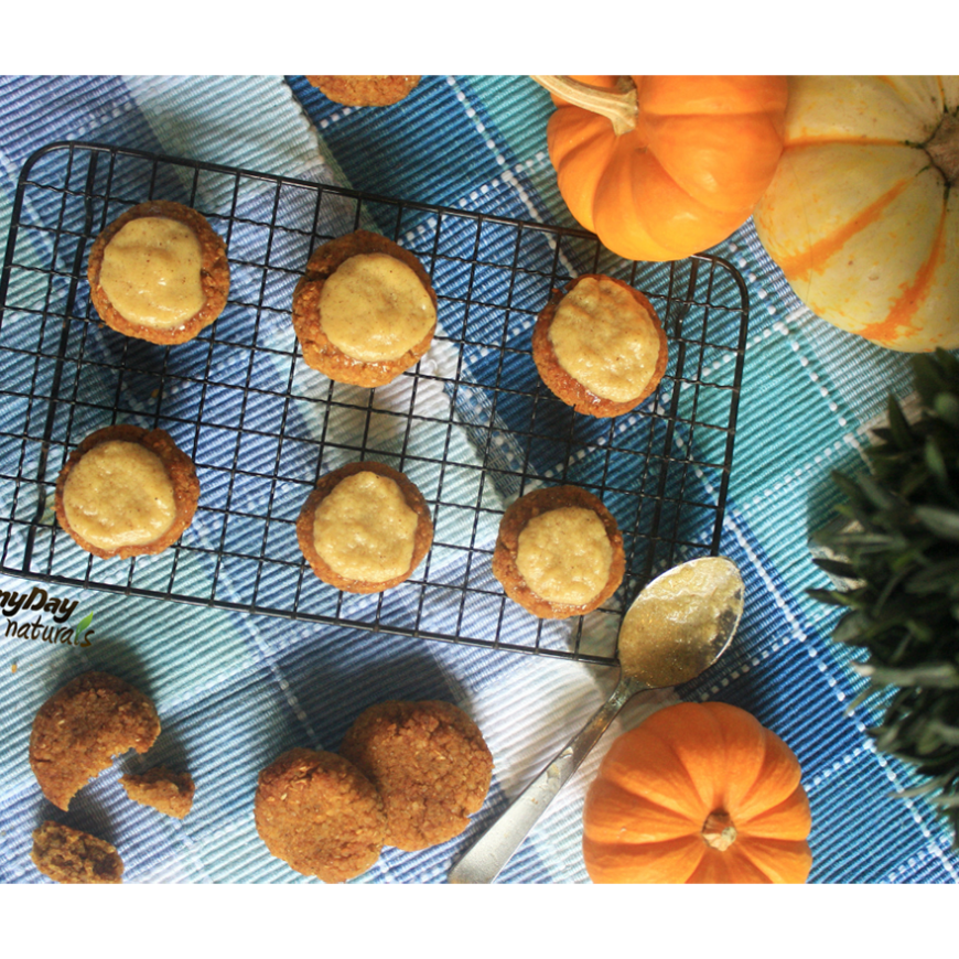 Pumpkin Spice Cookies with Vanilla Cinnamon Icing