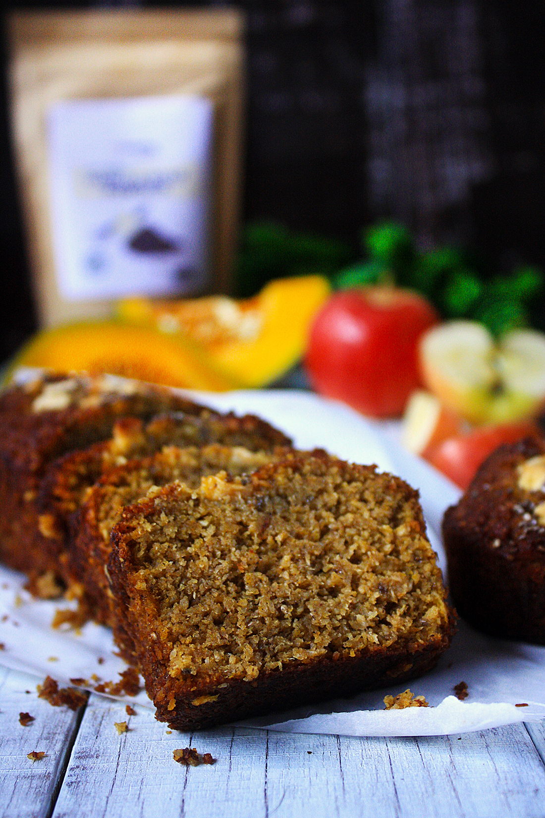 pumpkin apple gingerbread loaf paleo dessert recipe