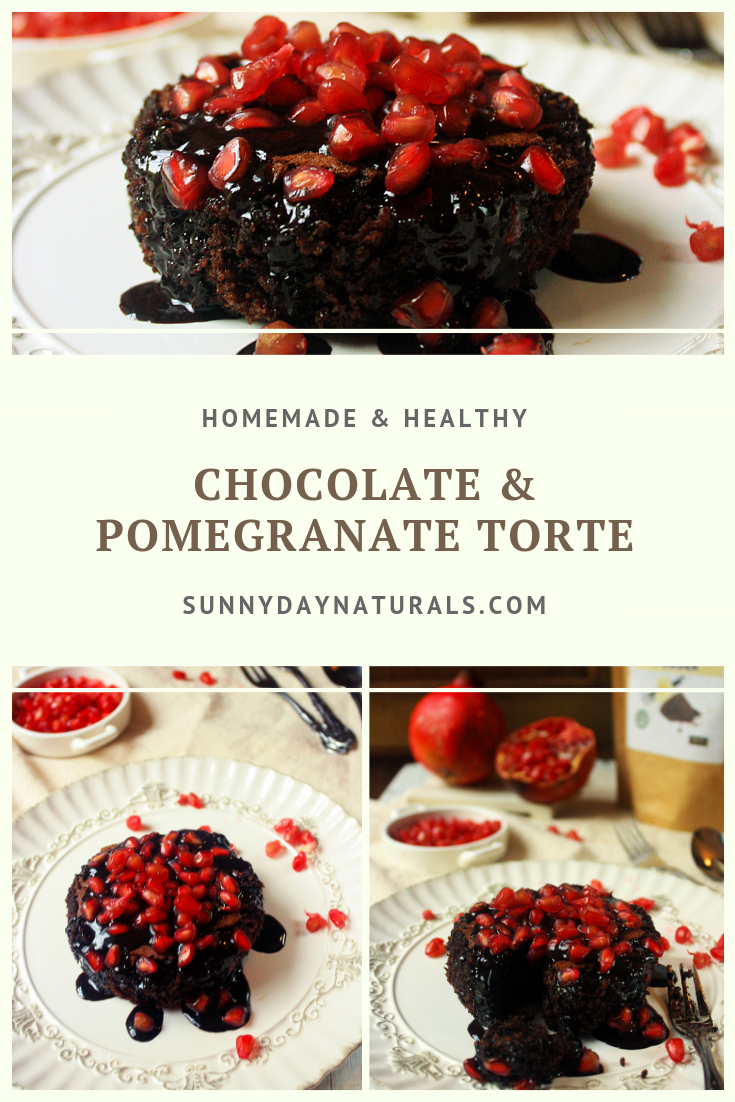 Homemade & Healthy Chocolate Pomegranate Torte Recipe