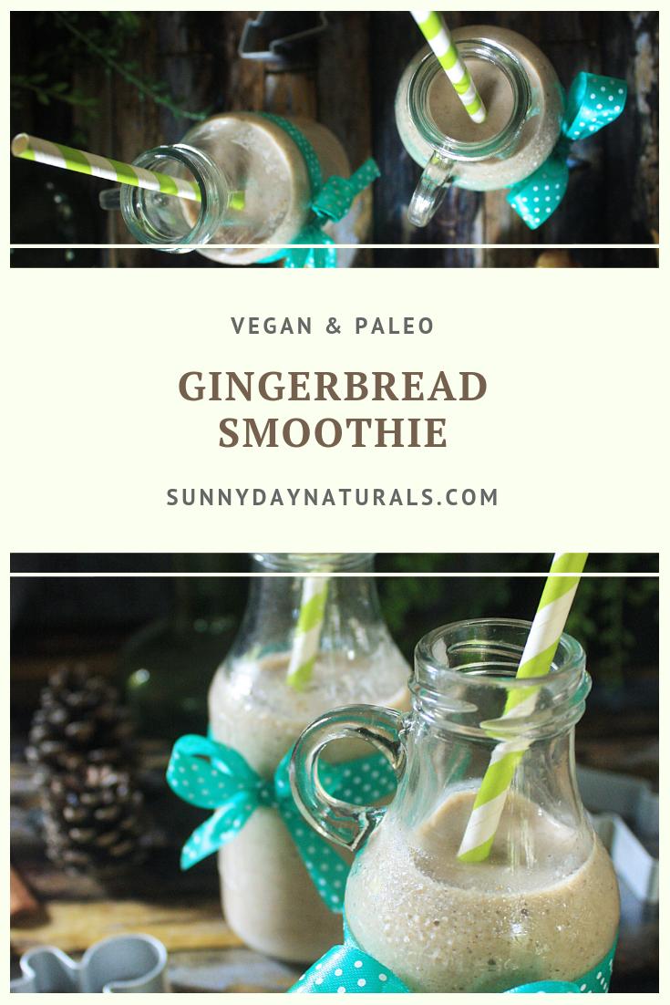 paleo vegan gingerbread smoothie