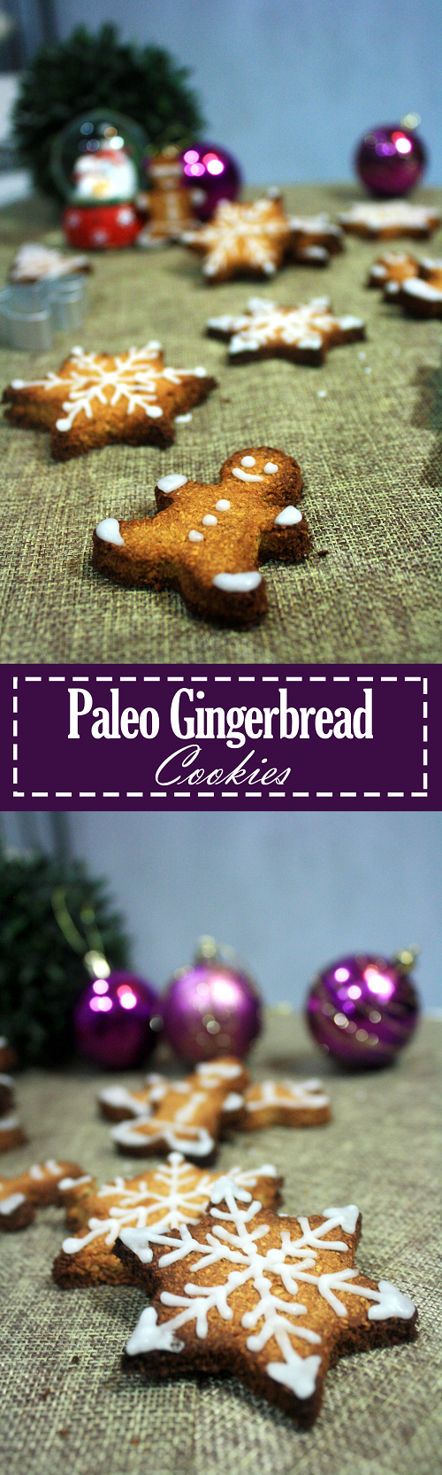 Paleo Gingerbread Cookies with Icing
