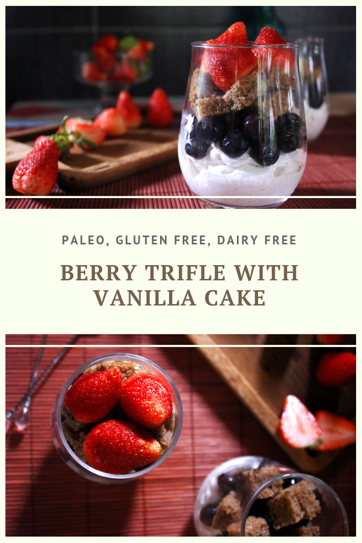 Paleo Berry Trifle with Vanilla Cake Recipe by Summer Day Naturals