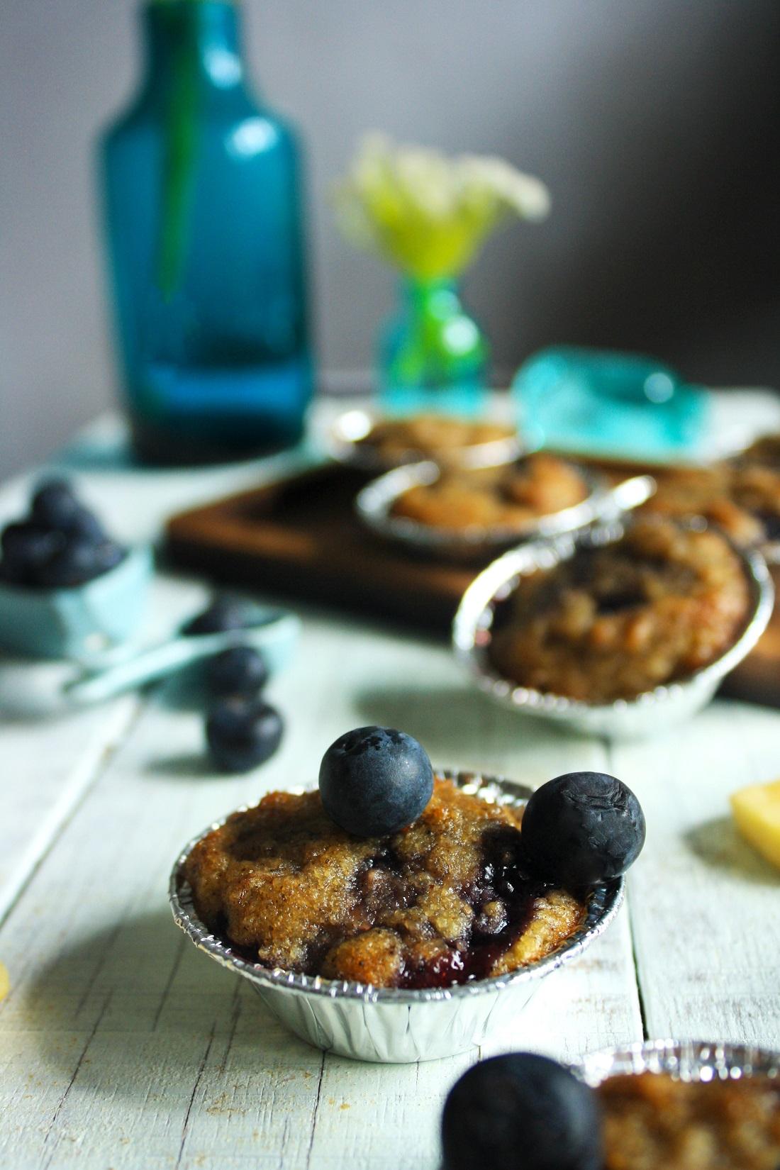 Banana & Blueberry Muffin Recipe. Paleo Flourless Baking