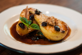 Roasted Pears with Honey and Cinnamon