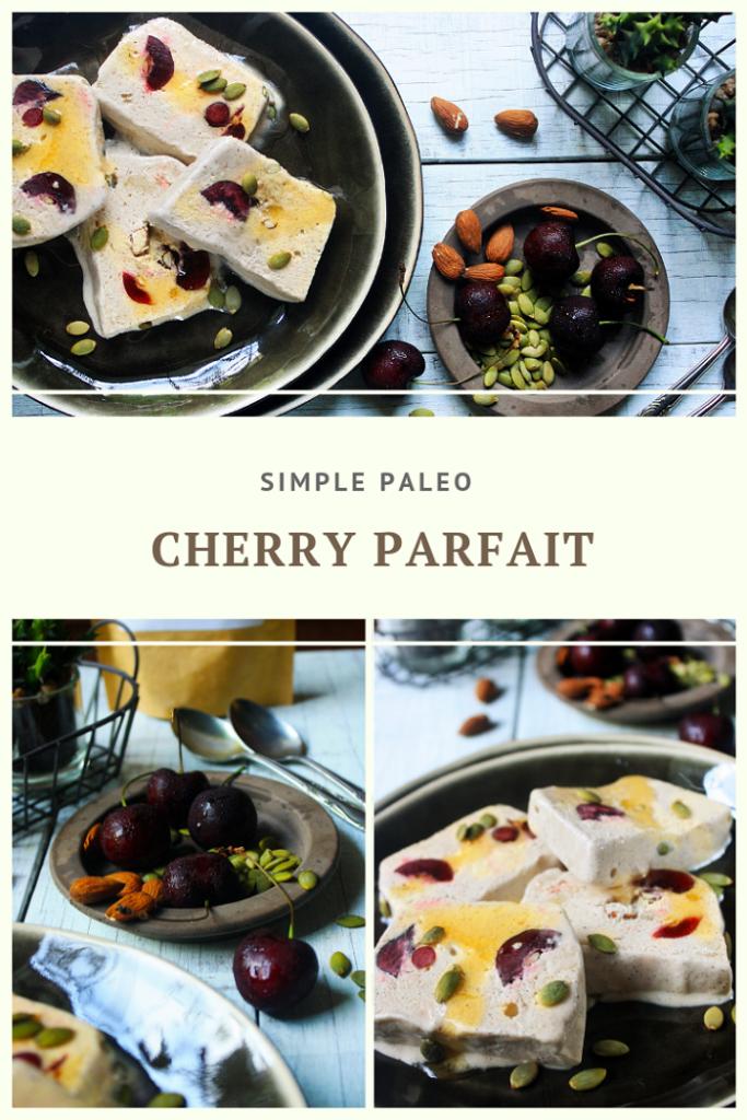 Paleo Frozen Cherry Parfait Recipe by Summer Day Naturals