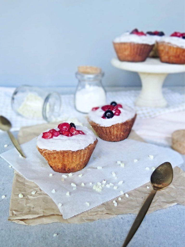 Paleo Vanilla & Berry Cupcake Recipe