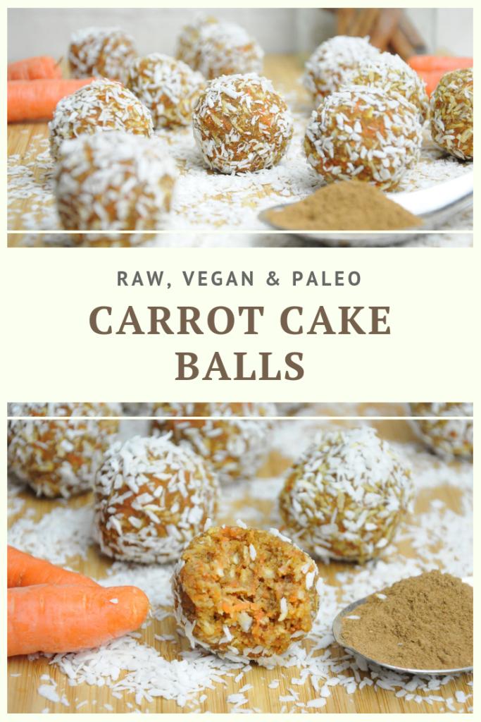 Raw, Vegan & Paleo Carrot Cake Balls Recipe by Summer Day Naturals