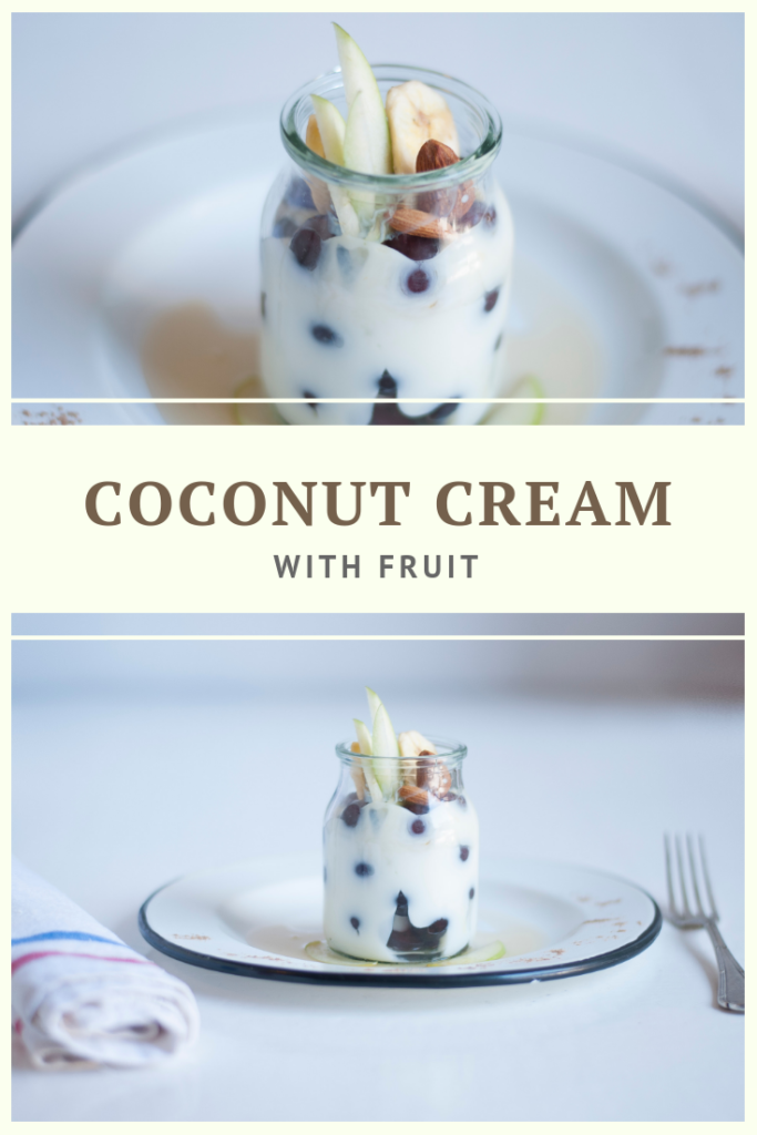 Raw, Vegan, Paleo Coconut Cream With Fruit by Summer Day Naturals