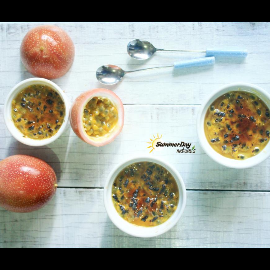 Passion Fruit Coconut Crème Brûlée