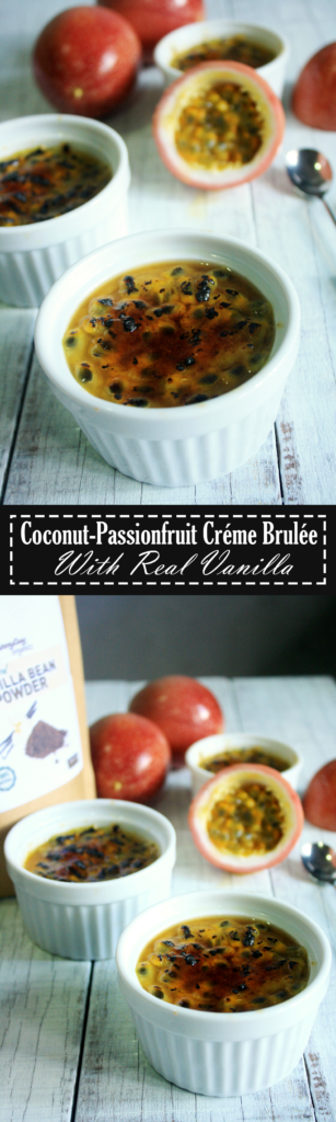 Paleo Passionfruit Coconut Creme Brulee Recipe by Summer Day Naturals