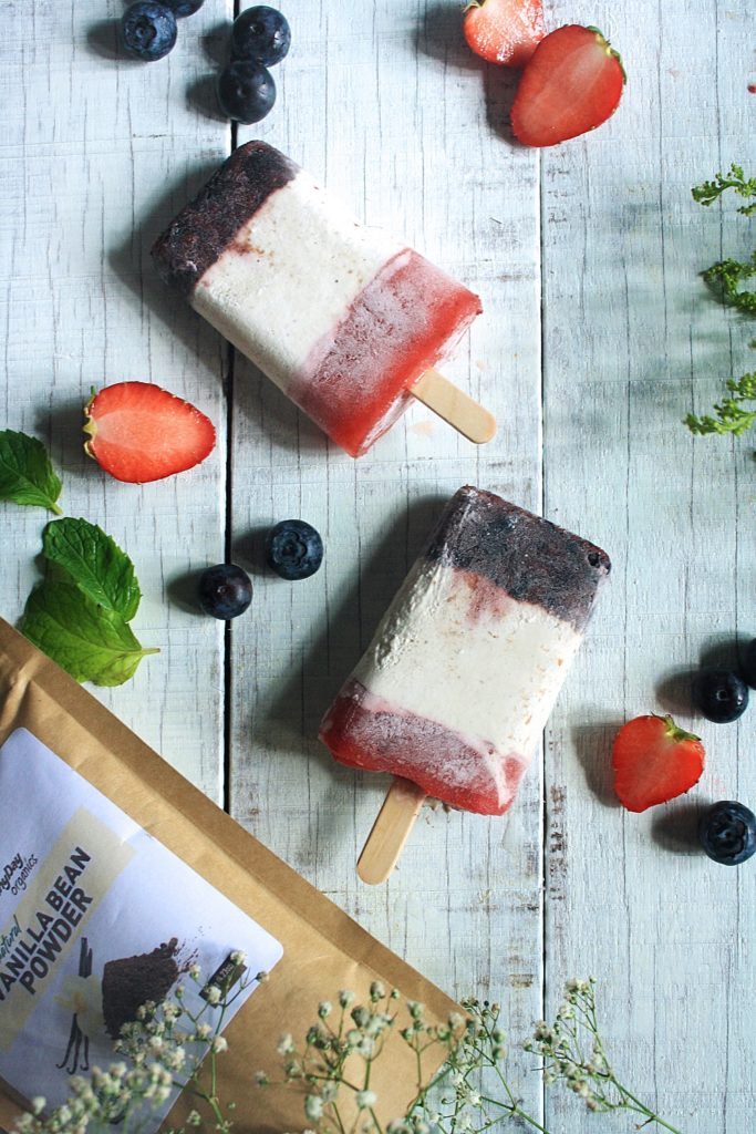 Vegan Ice Pops with Vanilla
