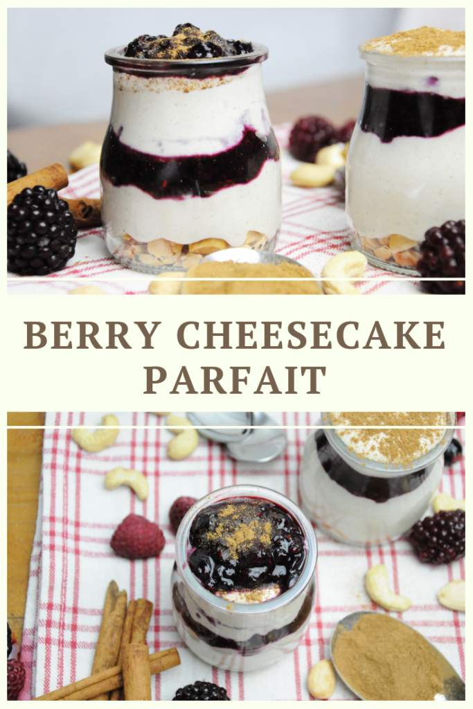 Vegan & Paleo Berry Cheesecake Parfait Recipe by Summer Day Naturals