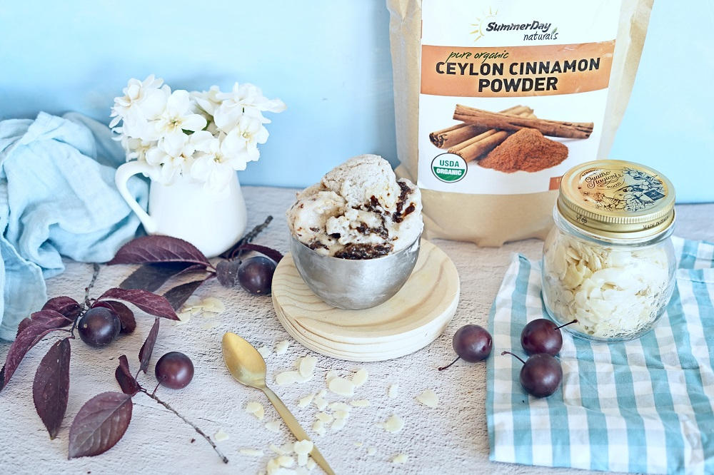 Paleo Ice Cream with Plum Caramel Recipe