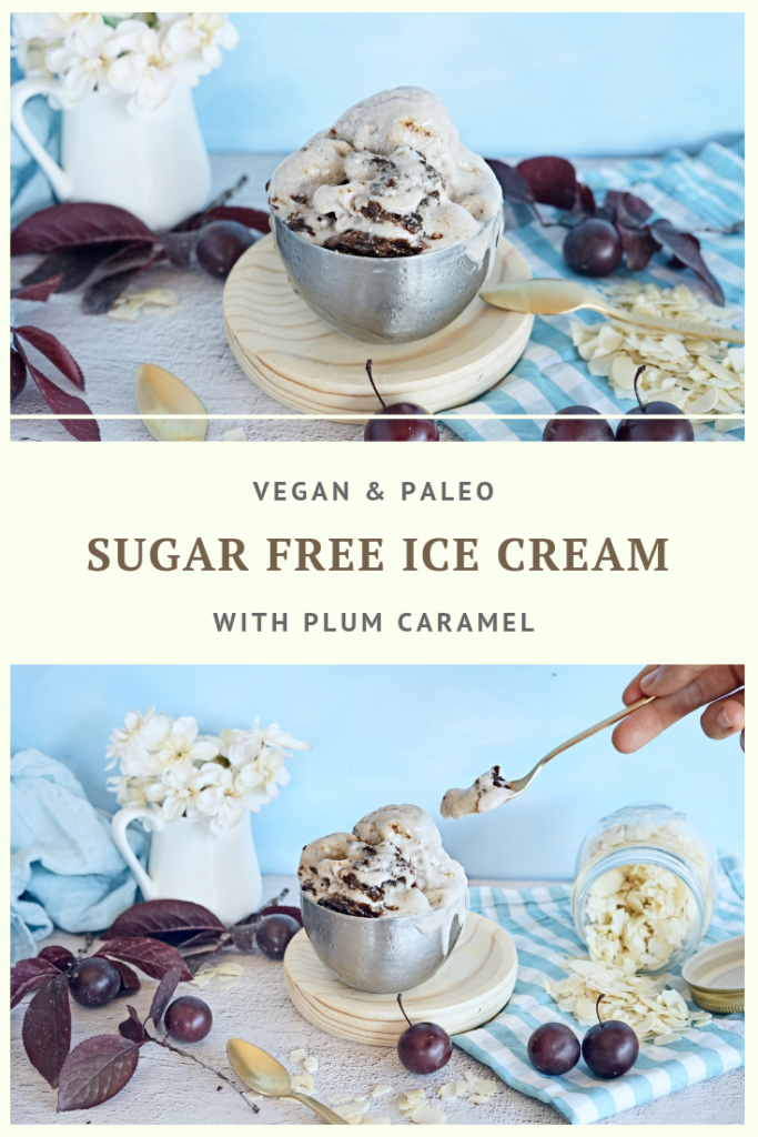 Vegan & Paleo Ice Cream with Plum Caramel Recipe by Summer Day Naturals