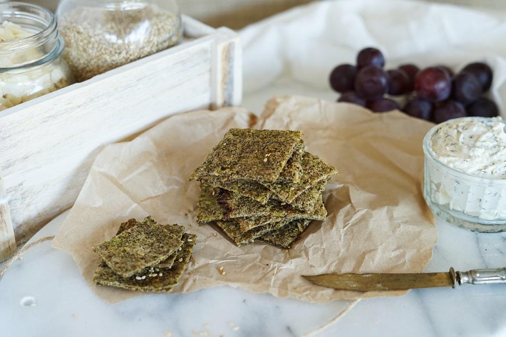 Paleo, Gluten Free, Low Carb Veggie Crackers