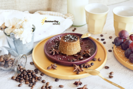 Coffee Pudding With Coconut Caramel