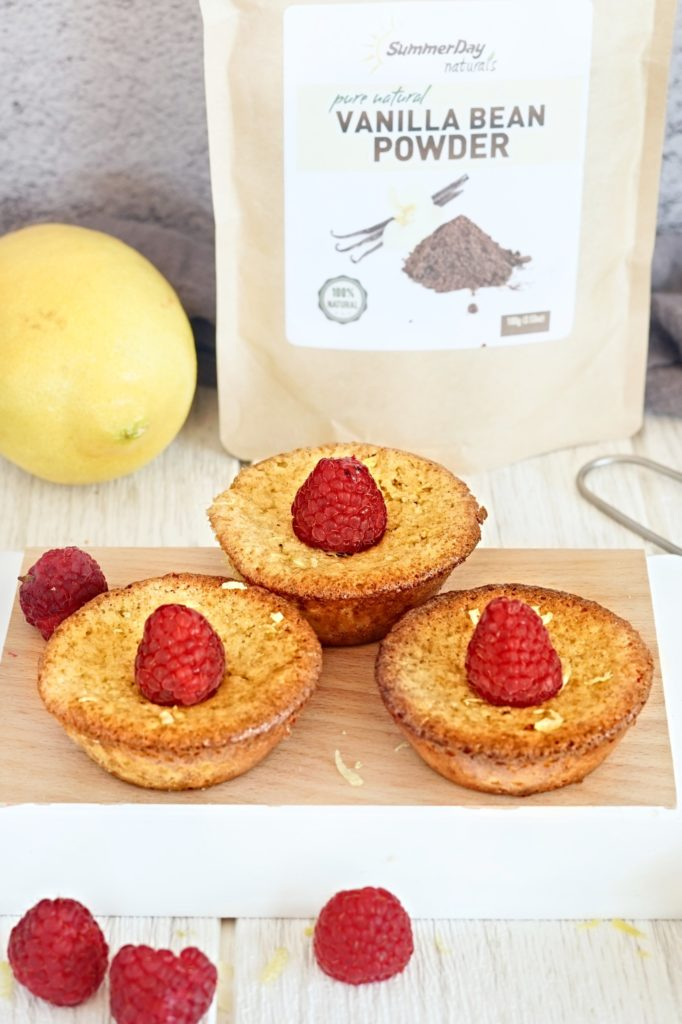 Lemon-Raspberry Financier Recipe - Paleo, Gluten Free, Dairy Free