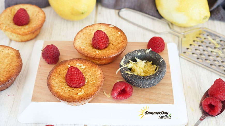Lemon-Raspberry Financiers
