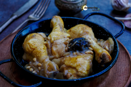 Cinnamon Chicken Legs with Prunes