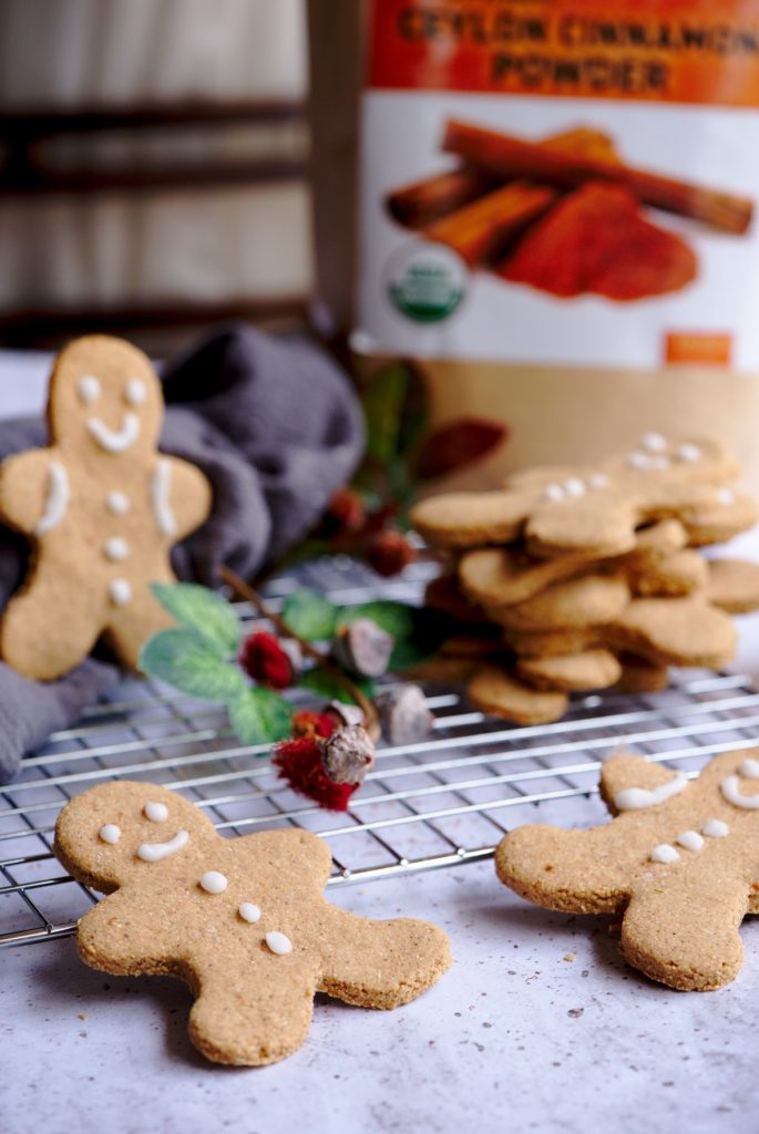 Gluten Free and Dairy Free Pumpkin Gingerbread Cookie Recipe - Healthy Christmas Dessert Recipes