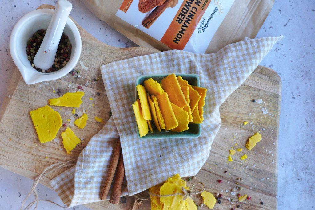 Gluten Free Turmeric Crackers