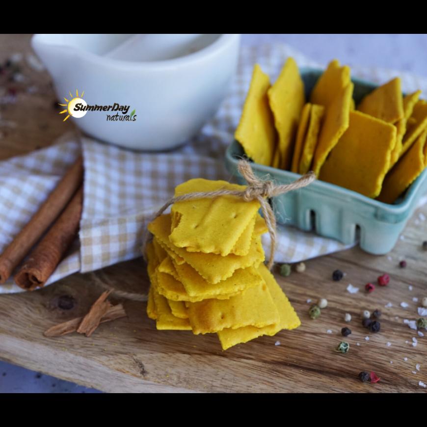 Paleo Turmeric Crackers